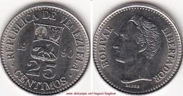 VENEZUELA 25 CENTIMOS 1990 KM#50.a - Used - Venezuela