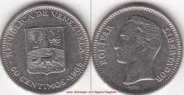 VENEZUELA 50 CENTIMOS 1965 (Nichel) KM#41 - Used - Venezuela