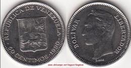 VENEZUELA 50 CENTIMOS 1990 (Acciaio Placcato Nichel) KM#41a - Used - Venezuela