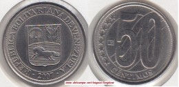 VENEZUELA 50 CENTIMOS 2007 KM#92 - - Used - Venezuela