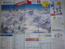 Alt789 Ski Area Pocket Map Mappa Piste Sci Impianti Risalita Skilift Cablecar Lifts Val Di Fiemme Obereggen Passo Lavazè - Sport Invernali