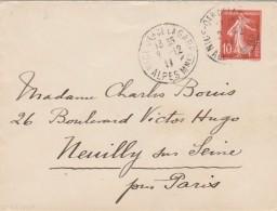 Entier Postal 138 E6 Cachet Daguin NICE Quartier De La Gare 2/12/1911 Alpes Maritimes Pour Neuilly Sur Seine - Entiers Postaux