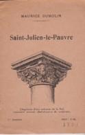 CS /  Guide EGLISE ST JULIEN LE PAUVRE (Paris ) 16p. En 10.5x16 Par Maurice DUMOLIN - Dépliants Touristiques