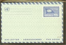 VN/UNO New York 10c Air Letter Sheet 1960 (3) - Cartas