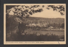DF / 48 LOZÈRE / LE MALZIEU-VILLE / ROUTE DE LA GARDE - ANCIEN CHÂTEAU - Autres Communes