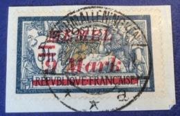 Memel Memelgebiet Cad / Stempel SCHMALLENINNGKEN A 1923 Geprüft Dr. Petersen BPP Michel 71 Merson (Brief Cover Lettre) - Memel (1920-1924)