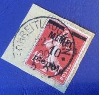 Memel Memelgebiet Cad / Stempel SCHREITLAUGKEN 1920 RR !geprüft Dr. Petersen BPP Michel 19y Semeuse (Brief Cover Lettre) - Memel (1920-1924)