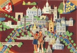 Jamboree De 1947 Avec Cachet + Timbre  Au Dos Illustration De P Joubert - Unclassified