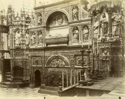 Espagne Tolede Toledo Cathedrale Chapelle Majeure Capilla Mayor Ancienne Photo Alguacil 1870 - Photographs