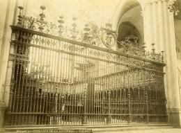Espagne Tolede Toledo Cathedrale Catedral Detail Ancienne Photo Alguacil 1870 - Photographs