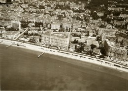 France Cannes Bords De Mer Carlton Hotel La Croisette Espace Miramar Ancienne Photo Aerienne 1930 - Places