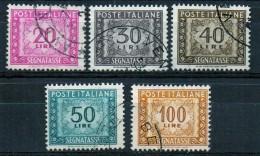 PIA - ITA - Specializzazione :1969-70 : Segnatasse  - (SAS 114/I-116/I-117/I-118/I E 119/I CAR 302/I-34-35-36/I E 37/I ) - Variétés Et Curiosités