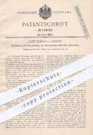 Original Patent - Fritz Kubick In Görlitz , 1901 , Herstellung Von Luftfreiem Acetylen , Karbid , Gas , Gase , Gasometer - Historische Dokumente