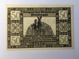 Allemagne Notgeld Hemdingen 50 Pfennig 1921 NEUF - [ 3] 1918-1933 : République De Weimar