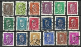 Estland Estonia 1936-1940 Präsident Päts Complete Set O - Estonia