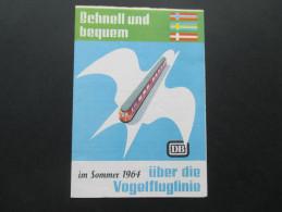 Der Schnell Weg Für Schiene + Straße Deutsche Bundesbahn 1964 Vogelfluglinie Nordsee / Ostsee - Europe