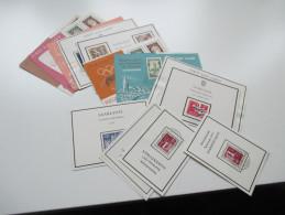 Saarland 1956 / 57 Saarland / Bundesland. FDC / First Day Cards Verschiedene Motive! Kleine Sammlung! Ersttag - 1947-56 Allierte Besetzung