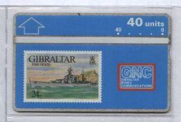 Gibraltar 306A - HMS Hood, 40u - MINT