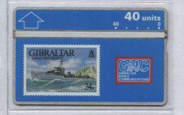 Gibraltar 306A - HMAS Waterhen, 40u - MINT
