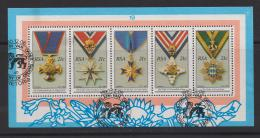 SOUTH AFRICA, 1990, CTO  Mini Sheet, Cooperation In Southern Africa, MS 24, #5372 - South Africa (1961-...)