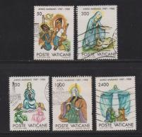 VATICAN, 1988, Used Stamps , Marian Year, 940=945, #4427, 5 Value(s) Only - Vatican