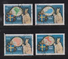 VATICAN, 1989, Used Stamps ,Visits To South America, 988=992, #4430, 4 Value(s) Only - Vatican