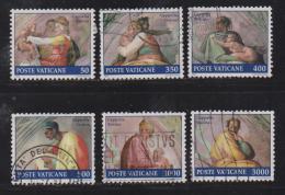 VATICAN, 1991, Used Stamps , Sixtine Chapel, 1023=1034,  #4436, 6value(s) Only - Gebruikt