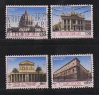 VATICAN, 1993, Used Stamps , Architectural Treasures, 1080=1089,  #4438, 4 Value(s) Only - Gebruikt