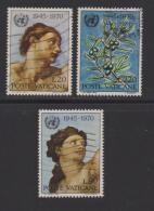VATICAN, 1970, Used Stamps , Anniversaty Of United Nations, 569-571  #3973, - Vatican