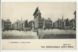 Vues Stéreoscopiques Julien Damoy   *  Amsterdam - La Place Du Dam - Cartoline Stereoscopiche