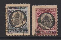 VATICAN, 1945, Used Stamps , Overprints, 121=122, #4155, - Used Stamps