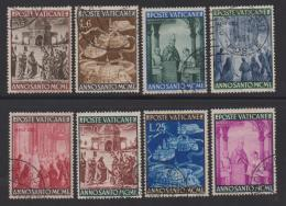 VATICAN, 1949, Used Stamps , Holy Year, 163-170, #4175, - Used Stamps