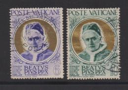 VATICAN, 1951, Used Stamps , Pope Pius X, 174=177, #4176, 2 Values Only - Vatican