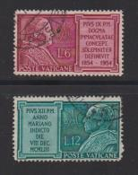 VATICAN, 1954, Used Stamps ,Pope Pius XII, 214=219, #4183,  2 Values Only - Vatican