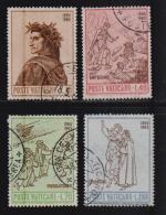 VATICAN, 1965, Used Stamps ,  Dante,454-457, #3926, - Vatican