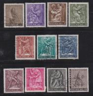 VATICAN, 1966, Mixed Stamps , Sculptures, 490=500, #3929,  11 Values Only - Vatican