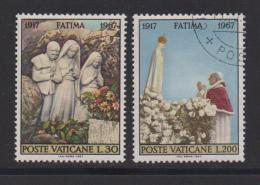 VATICAN, 1967, Mixed Stamps , Fatima Anniversary, 528=530, #3938,  2 Values Only - Vatican