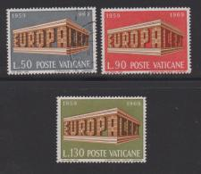 VATICAN, 1969, Mixed Stamps , Europa, 547-549, #3947,  Complete - Vatican