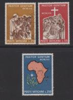 VATICAN, 1969, Mixed Stamps , Pope With Young Africans, 550-552, #3951,  Complete - Vatican