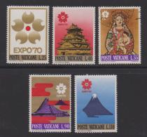 VATICAN, 1970, Mixed Stamps , Expo 70 Emblem, 556-560, #3962,  Complete - Vatican