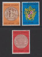VATICAN, 1970, Mixed Stamps , Medal Of Pope Pius IX, 561-563, #3963,  Complete - Vatican
