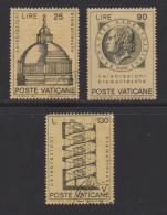 VATICAN, 1972, Mixed Stamps , Bramante Celebrations, 596-598, #3983 Complete - Vatican