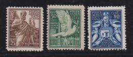 VATICAN, 1938, Mixed Stamps , Mezzana, 84=88, #4118,  3 Values Only - Vatican