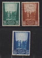 VATICAN, 1942, Mixed Stamps , Prisoners Of War, 89-91, #4130,  Complete - Used Stamps