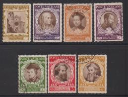 VATICAN, 1946, Mixed Stamps ,Council Of Trent,  126=137, #4156,  7 Values Only - Used Stamps