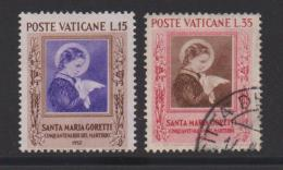 VATICAN, 1953, Mixed Stamps , Maria Goretti, 190-191, #4181, Complete - Vatican