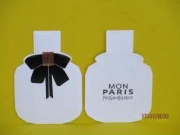 """Cartes Parfumées  CARTE  YVES SAINT LAURENT """"MON PARIS"""" Recto Verso Réplique Flacon - Cartes Parfumées"""