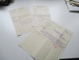Credit Lyonais 1929 / 35 Und 53 Quittungen / Belege. Alexandrie / Kairo / Ägypten. Interessant??! - Historische Dokumente