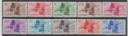 CONGO Republique 1961 - * * COB 420/29  - Indépendance - Surchargés Conférance Coquilhatville - Série - - Republic Of Congo (1960-64)