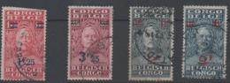 CONGO Belge - 1931 - COB 163, 164, 165, 167 Oblitéré - Belgian Congo